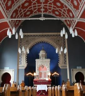 Moorish Interior of Bradford Reform Synagogue, built 1881.