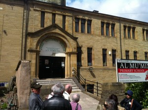 Tour of Jewish Bradford, outside the former Spring Gardens Synagogue