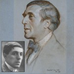 Poet Humbert Wolfe 1885-1940. Pastel picture by  Sir William Rothenstein