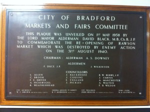 A plaque in The Oastler Centre, John Street, Bradford unveiled in 1958 by Lord Mayor Dr. David Black