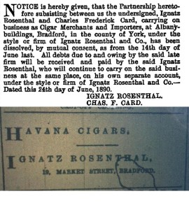 Ignatz Rosenthal Cigar merchant