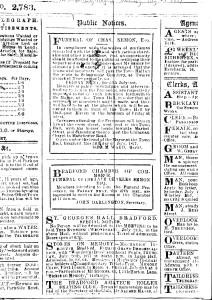 bradford telegraph funeral chas semon