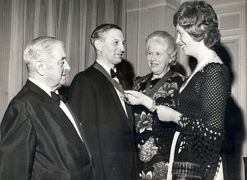 Rudi and his parents Hansa and Luise Librowicz and his wife Marianne after his installation as President of the B'Nai B'rith Mens Lodge in Bradford in 1969. Marianne was installed as President of the Women's Lodge at the same time.