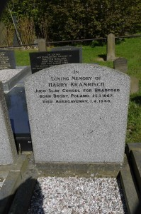 Grave stone of Harry Kramrisch - Jugo Slav consul for Bradford