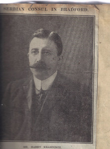 Harry Kramrisch 1867-1946. Bradford Woolman and Yugoslav Consul,