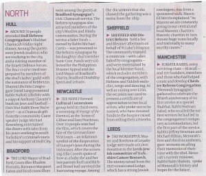 Chanukah 2013 Northern round-up. From The Jewish Chronicle , Friday 6th December 2013