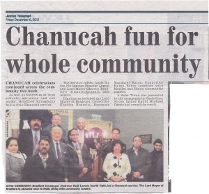 Chanucah fun for the whole community. From The Jewish Telegraph Friday 6th December 2013