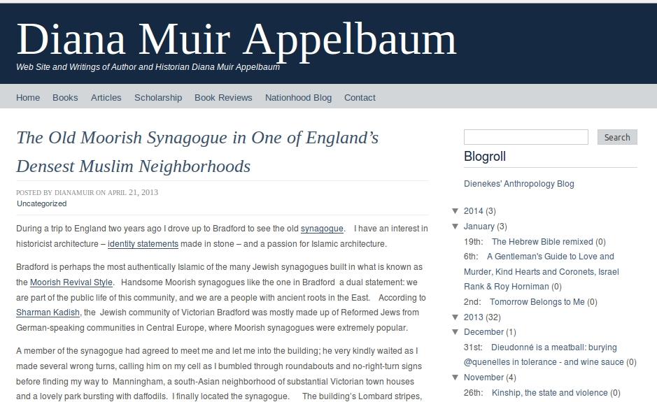 Website of American author Diana Muir Appelbaum
