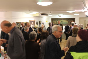 Ex Bradfordians and Londoners attend the Bradford Jewish exhibition launch at the London Jewish Cultural Centre.