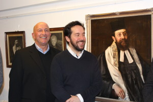 Father, son and great great grandfather: Richard Stroud, his son James Stroud and their ancestor Rabbi Strauss (great grandfather and great great grandfather)